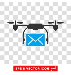 Mail Delivery Drone Eps Icon vector image