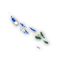 map and flag of the solomon islands vector image
