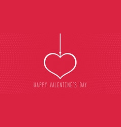 minimalistic background for valentines day vector image