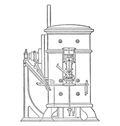 minting press from royal mint front view vintage vector image