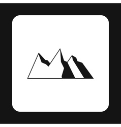 Mountains icon simple style vector