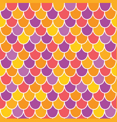 Multicolor scallops scales seamless pattern vector
