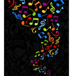 notes background vector image