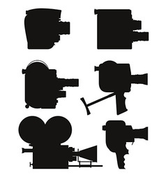 old retro vintage movie video camera 07 vector image vector image