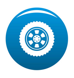 one tire icon blue vector image