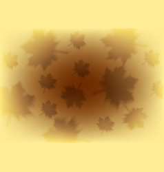 orange autumn background with blurred maple leaves vector image