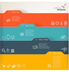 part six presentation template design vector image