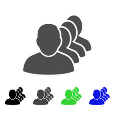 People squad flat icon vector