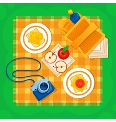 Picnic on the grass vector