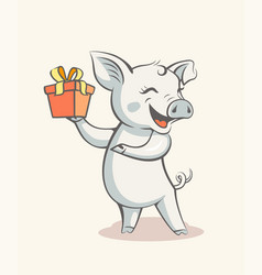 Pig symbol 2019 new year vector