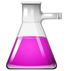 Pink liquid in glass beaker vector