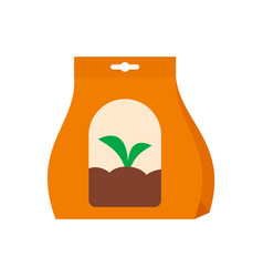 plant seeds icon flat style vector image