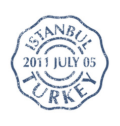 postal stamp from turkey vector image