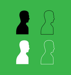 profile side view portrait icon black and white vector image