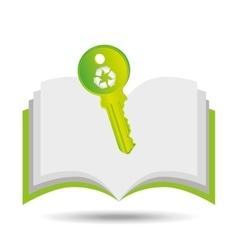 Recycle symbol eco key design vector