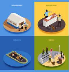 Refugees 2x2 design concept vector