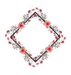 Roses arrangement frame vector