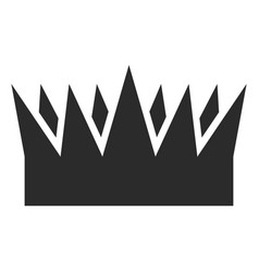 royal crown icon black silhouette monarchy vector image