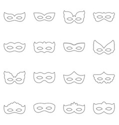 Set of carnival masks vector