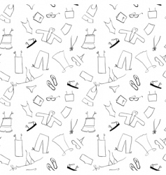 shopping clothes seamless background vector image
