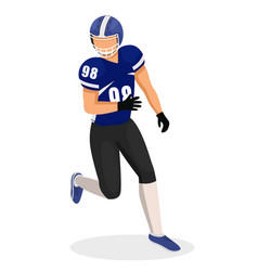 sportsman isolated guy play in american football vector image
