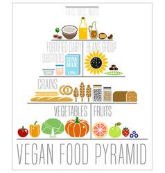 the vegan food pyramid vector image