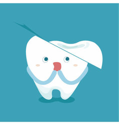 Tooth feel frighten because broken tooth vector