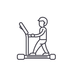 treadmill line icon concept treadmill vector image