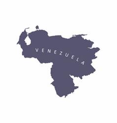 Venezuela silhouette map vector