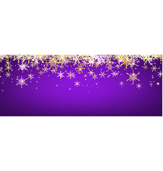 Violet winter banner with snowflakes vector image