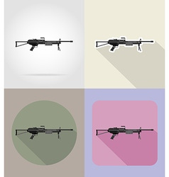 Weapon flat icons 12 vector