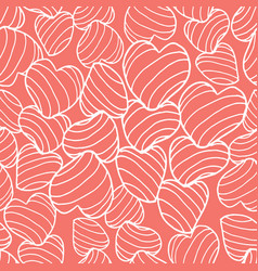 white line art bouncy striped hearts packed vector image