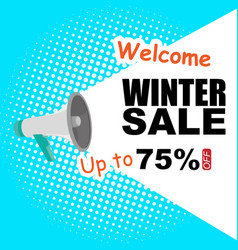 Winter sale announcement off image vector