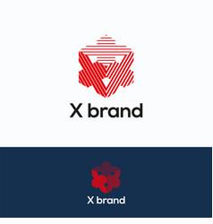X brand logo vector