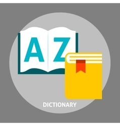 Dictionary book flat icon vector