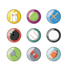Set flat icon ball sport vector