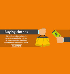 buying clothes banner horizontal concept vector image vector image