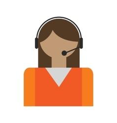 Call center operators avatar vector