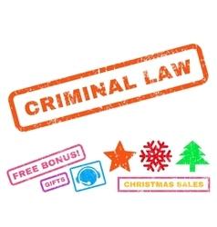 Criminal Law Rubber Stamp vector image