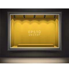 Empty front display vector image vector image