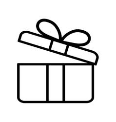 gift box present ribbon valentine day outline vector image