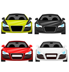 car flat icons in front view vector image vector image