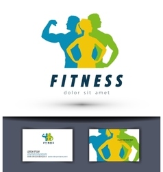 gym logo design template fitness or sports vector image