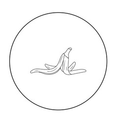 peel of banana icon in outline style isolated on vector image vector image