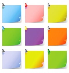 post it note paper vector image vector image