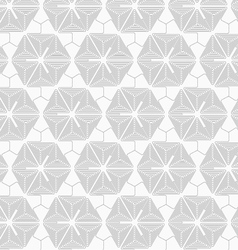 Slim gray triangle spirals forming hexagons vector image