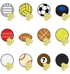 Sports betting icons vector image