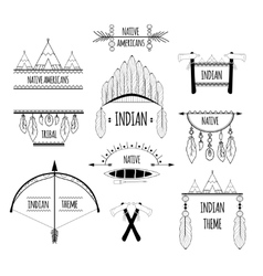 Tribal labels set vector image vector image