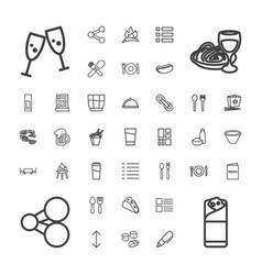 37 menu icons vector