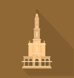 big castle icon flat style vector image